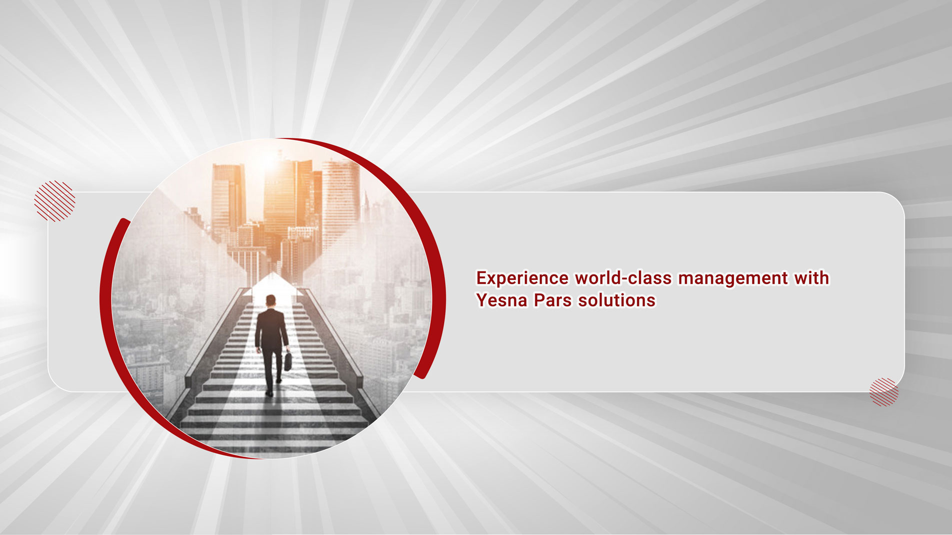 Experience world-class management with YesnaPars solutions